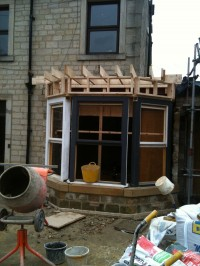 Extension construction work