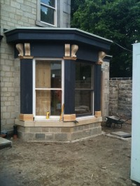 Front window under construction