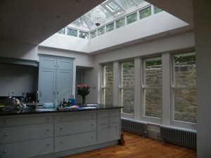 Interior kitchen with lantern