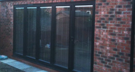 house extension and bi-fold doors